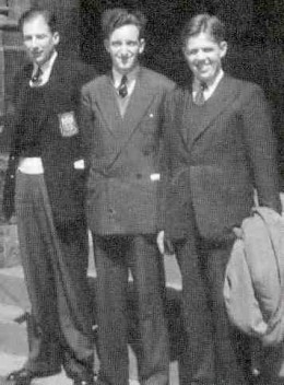 Theology students Charles Meachin, Bernard Spong and David Welbrock. c1956