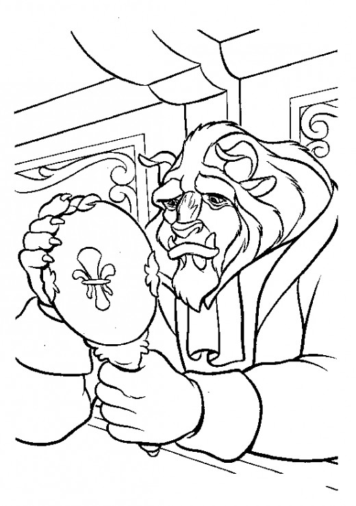 Disney Princess Beauty and The Beast Coloring Pages