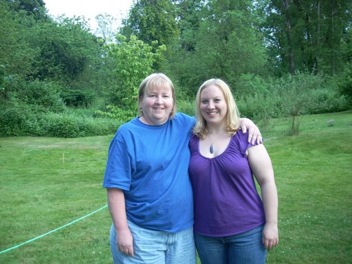 Myself (left) before losing weight!