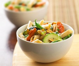 This Pasta salad is perfect whether you have a load of vegetables from your own garden or our local food market, or if you just don't feel like turning on your oven.