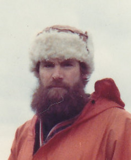 The writer as he was in 1977 on MacQuarie Island missing his family and wishing he were home