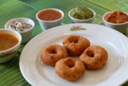 All time favorite snack South Indian Wada Sambar