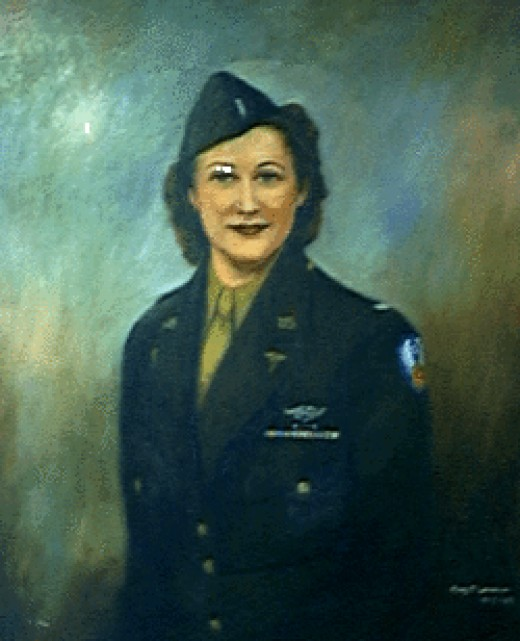 A painting of Wilma as it hung in the Dolly Vinsant Memorial Hospital in Texas