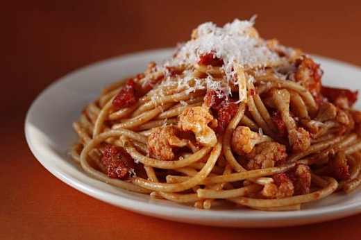 If looking at this picture pushes you to make a plate of pasta, our first option may not be a great idea ;)