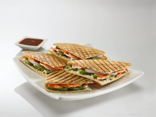Zingy Pizza Sandwich at Cafe Coffee Day