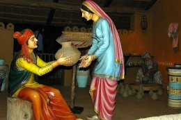Husband and Wife in Village