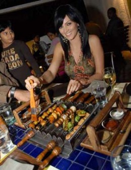Celebs Throng Barbeque Nation Tables