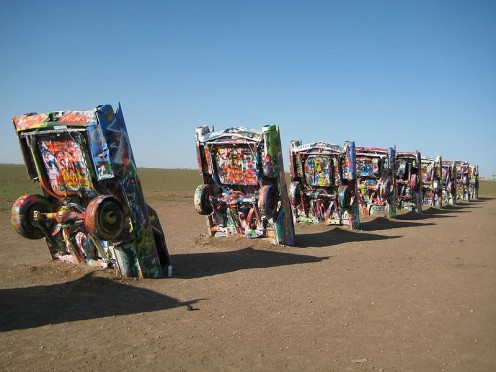 Cadillac Ranch in Amarillo.