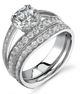 Custom-made wedding ring