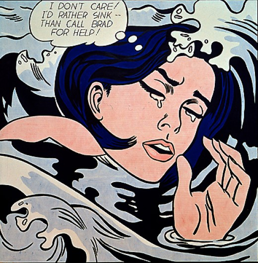 One again showing Lichtenstein's connection with the feminist movement