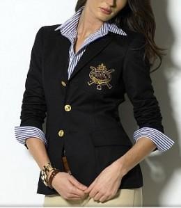 Ralph Lauren Wool Crested Blazer
