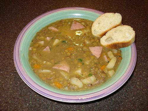 Lentil Potato Ham Stew  (Photo courtesy by bucklava@flicker.com)