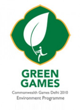 """Logo to signify """"Green Commonwealth Games"""" 2010"""