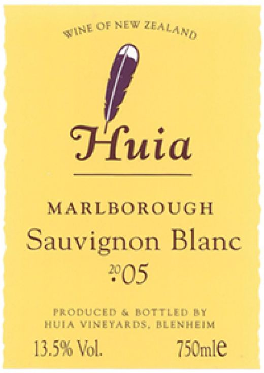 Photo from: http://www.huia.net.nz/wines/label/sauvignonblanc_2005.jpg