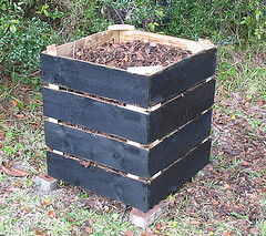Phase One Wood Composter by www.ecoyardfarmer.com at http://www.flickr.com/photos/22260368@N06/2144956348/sizes/s/