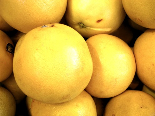 A pile of grapefruit / Photo by E. A. Wright