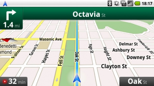 Google's Navigation App for Android