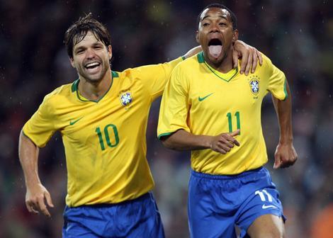 #10 Kaka and #11 Robinho Brazil Fifa Worldcup South Africa 2010