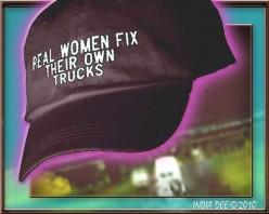 "Baseball cap ""Real Women Fix Their Own Trucks"""