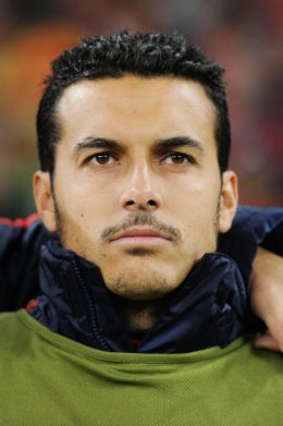 Pedro Rodriguez of Spain at the 2010 FIFA World Cup South Africa. Spain beat Portugal at Green Point Stadium on June 29, 2010 in Cape Town, South Africa. (June 28, 2010 - Photo by Jasper Juinen/Getty Images Europe)