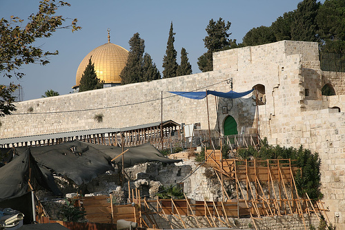 Western Wall, Mugrabi Gate, and Dome of the Rock/Brian Negin