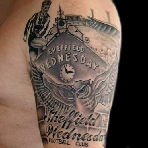 I love this Sheffield Wednesday soccer tattoo, Wednesday are not the big