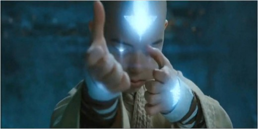 "Aang in ""the avatar state"""