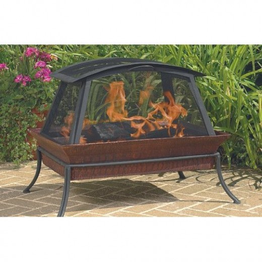 Outdoor fireplaces come in all sorts of designs.
