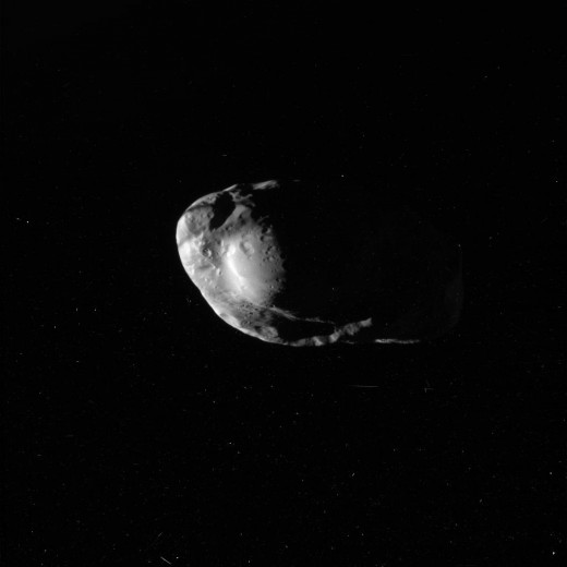 This is an excellent photo of asteroid Prometheus that came close enough to earth to capture.