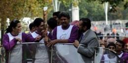 Baton bearers in London
