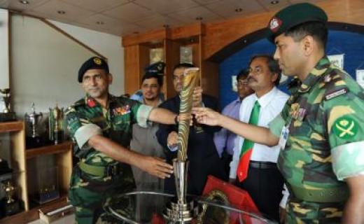 Displayed at army Stadium in Bangladesh