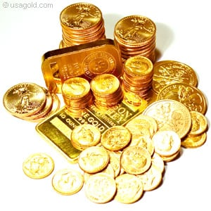 Buy gold coins and bullion bars as an investment.