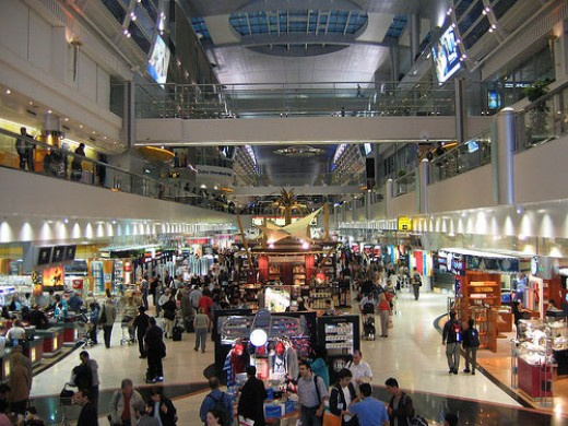 Shopping at Dubai Duty Free Shop.