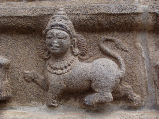 A depiction of the Asian Sphinx,in India.