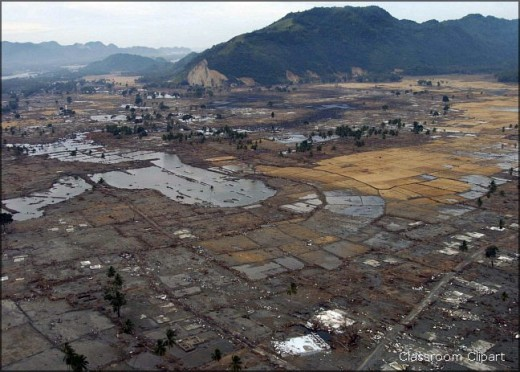 When the tsunami recedes, the true extent of the destruction is revealed.