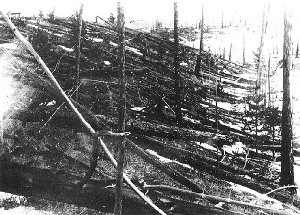 The explosion at Tunguska, Siberia on June 30, 1908 was 1,500 times as powerful as the atomic bomb detonated 37 years later at Hiroshima, Japan on August 6, 1945