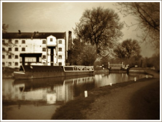Parndon Mill taken with a Shen Hao camera on 5x4 inch, Ilford FP4+ film, Scanned on an Epson PERFECTION 4990 PHOTO  into a computer and digitally manipulated with Photoshop CS4 to give the impression of an old photograph taken with a pinhole camera