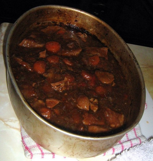 Beef Stew - Casserole Cooked in the Oven