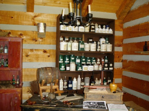 Fort Steuben apothecary.  Photo by Gerber Ink.