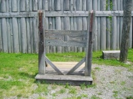 The stockade within Fort Steuben.  Photo by Gerber Ink.