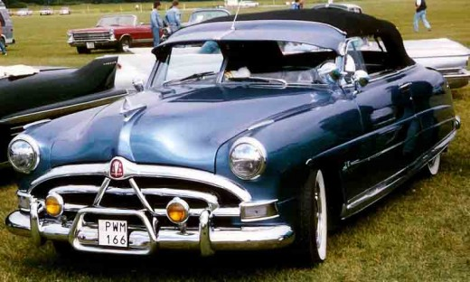 1951 Hudson Hornet Convertible - Low, Light and FAST - they dominated NASCAR. Wikimedia Photo by Lars-Gran Lindgren