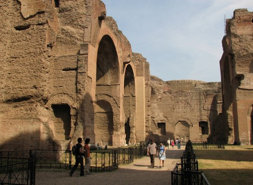 The Baths of Caracalla. The Romans took their baths seriously! Photo by Patrick Denker (flickr)