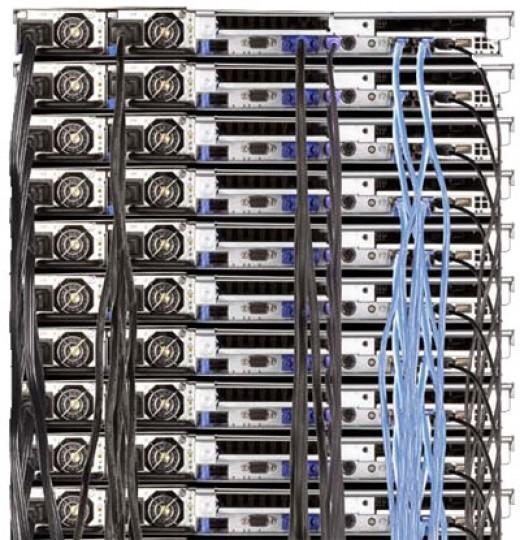 A Dell* Server Rack