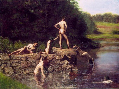 """The Swimming Hole,"" by American artist Thomas Eakins"