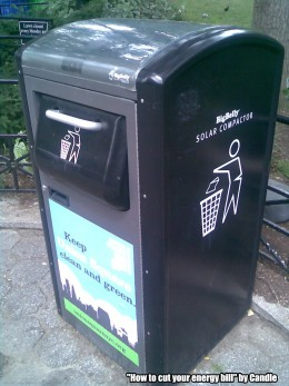 Big Belly Solar Compactor by Candle