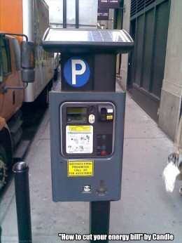 Solar-Powered Parking Meter by Candle