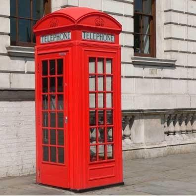 The dear old British telephone box