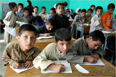 US Government Aid has facilitated 7 million Afghan children going to school compared with fewer than 1 million a decade ago.