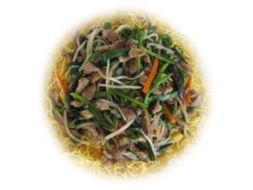 Chinese pork with stir fried veg and noodles. Eat with chopsticks or just a fork