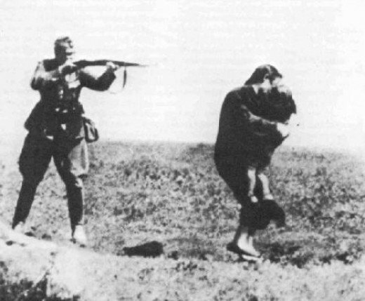 A gripping image of German Atrocity